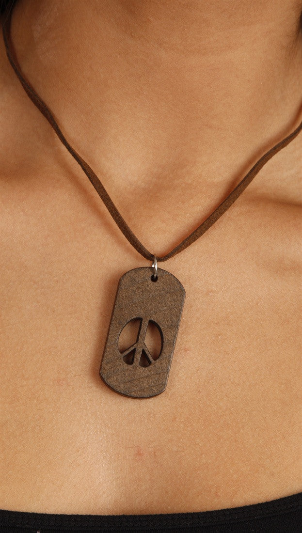 Apparel Addiction Jewelry Peace Cutout Necklace