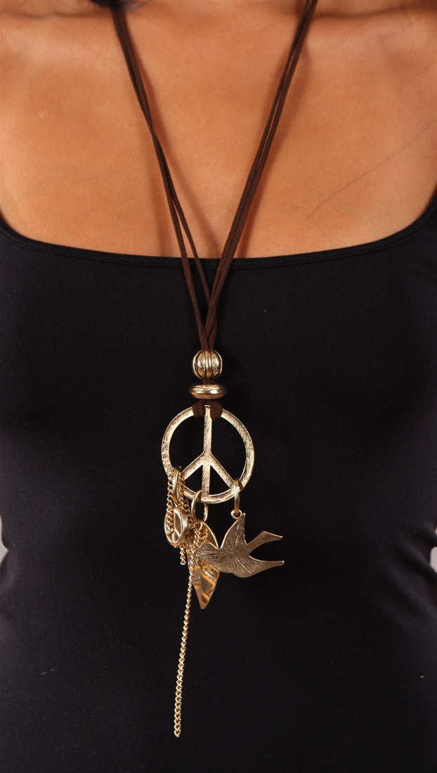 Apparel Addicion Peace Necklace