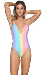 Capittana Bettina Rainbow Pink Reversible One Piece Cut Out Monokini