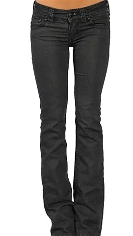 Affliction Jade Cord A Rhinestone Nora Denim Black Pants Low Waist Womens