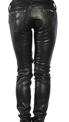Affliction Raquel Cross Studs Pleather Orva Skinny Pants Stud