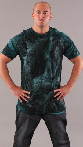 Affliction Hope Bamboo Mens Tee Turquoise