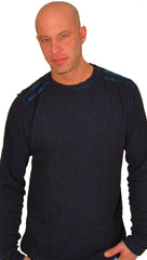 Affliction Mens Air Assault Reversible Long Sleeve Thermal in Blue Black