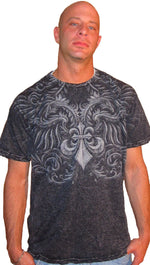 Affliction Mens Auricula Short Sleeve Tee in Black