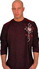Affliction Damma Reversible Thermal in Black Red