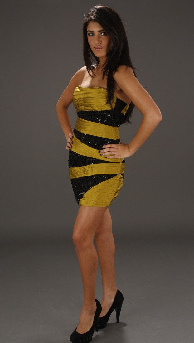 Alexia Admor Bandage Tube Dress in Chartreuse