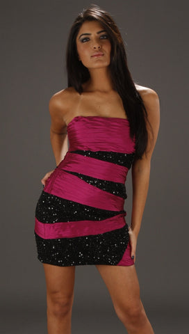 Alexia Admor Bandage Tube Dress in Fuchsia
