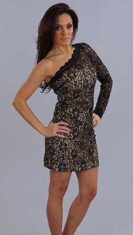 Alexia Admor One Shoulder Lace Sheath Dress