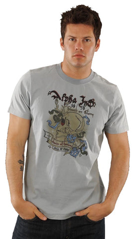 Alpha Industries Death or Glory Skull Mens T-Shirt Dusty Blue