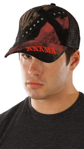 Anama Criss Cross Star Trucker Hat Mesh Adjustable Cap Mens Womens