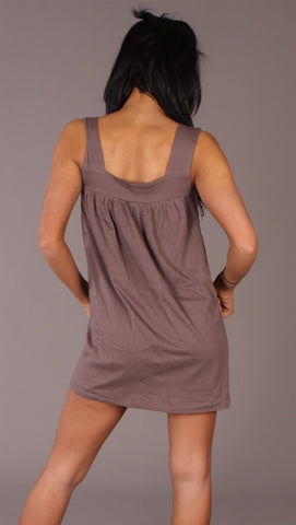 Apparel Addiction Long Tank W/ Pockets Brown