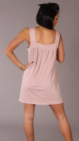 Apparel Addiction Long Tank W/ Pockets Pink