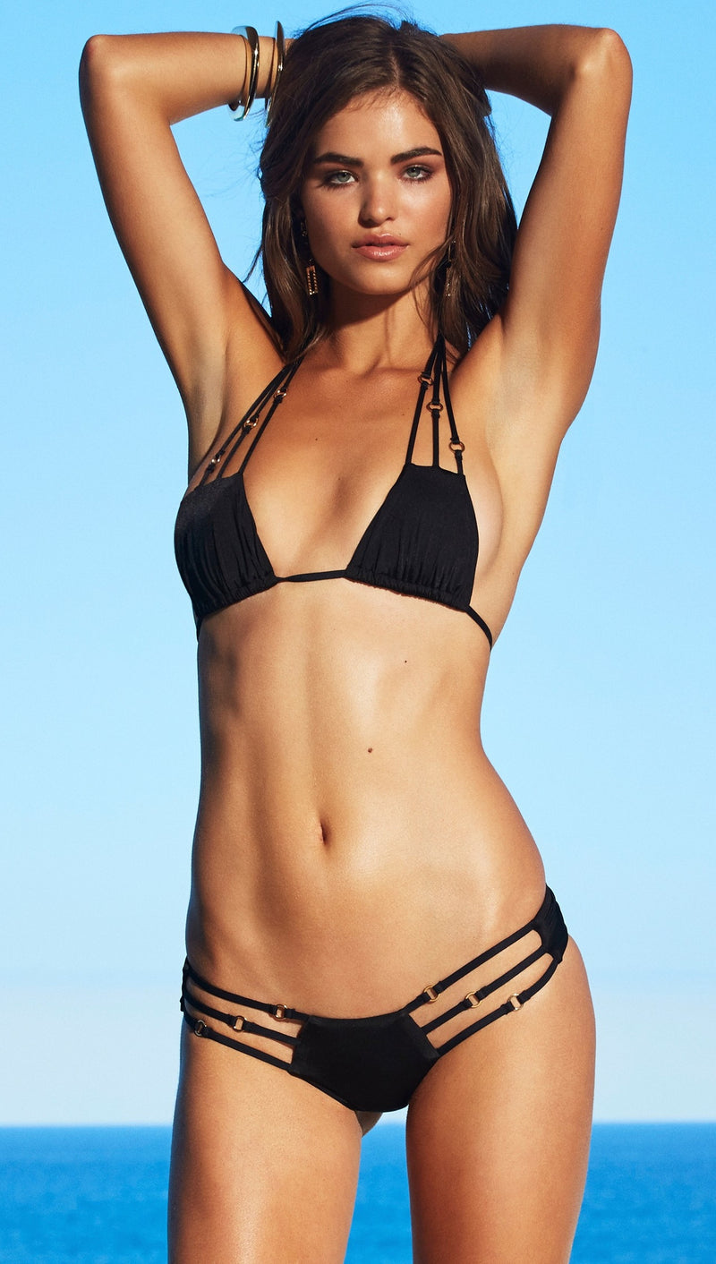beach bunny basics black swimwear bikini