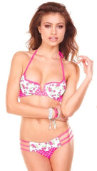 Beach Bunny Swimwear Garden of Eden Scalloped Push Up Bikini Set
