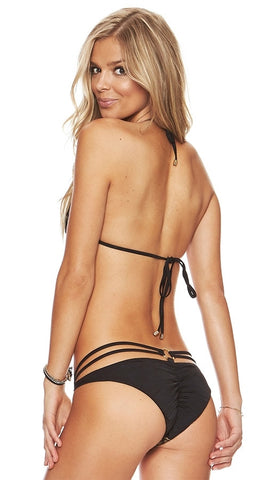 Beach Bunny Swimwear Gunpowder & Lace Bikini in Black