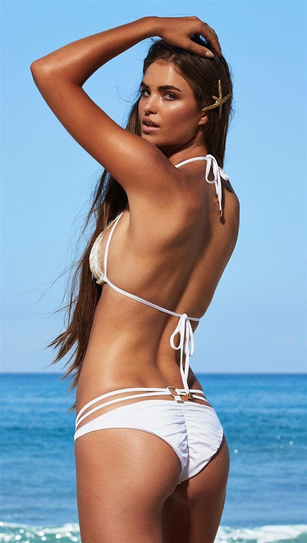 Beach Bunny Swimwear Gunpowder & Lace Bikini in White