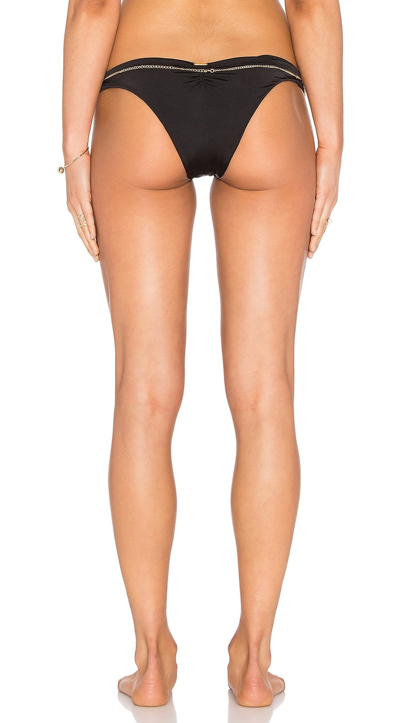 Beach Bunny Tribal Theory Chain Skimpy Bottom Black