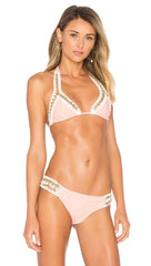 Got Me In Chains Triangle Top Daiquiri by Beach Bunny Swimwear Pink