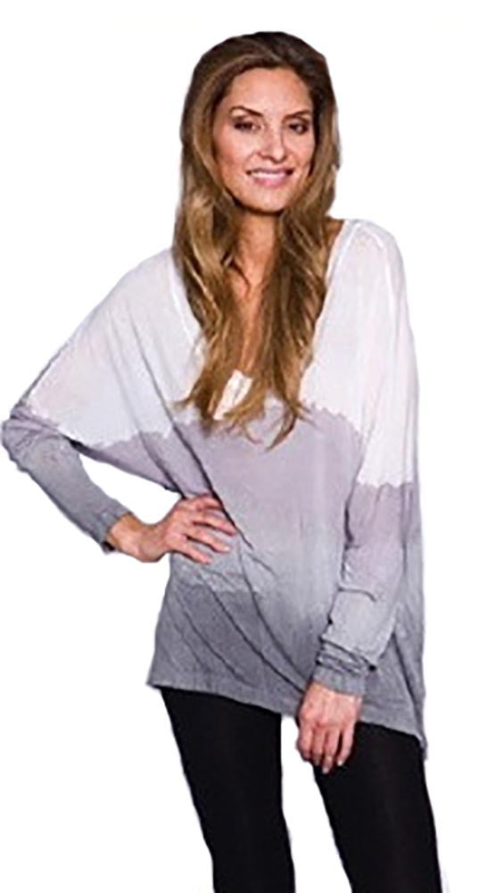 Bella Dahl Casual V Neck in Storm Cloud