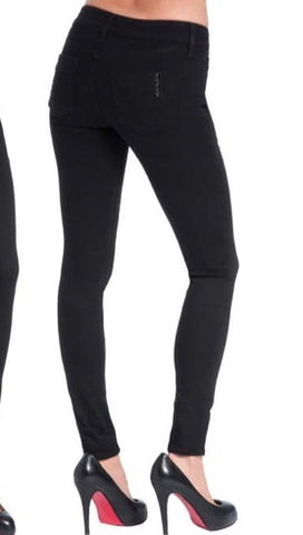 Black Orchid Denim Mid Rise Jegging in Jet Black