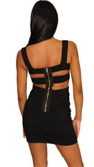 Blaque Label Ladder Mini Dress in Black