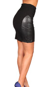 Blaque Label Real Leather Patch Mini Skirt