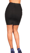 Blaque Label Leather Sexy Fitted Black Mini Skirt