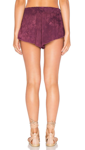 Blue Life Beach Bunny Tie Dye Shorts Ambrosia Purple