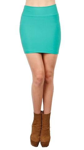 Boulee Levi Exposed Zipper Mini Skirt in Bright Green