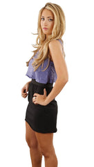 Boy Meets Girl Tara Silhouette Tank Dress in Purple Black