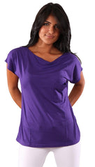 Bread and Butter Cap Sleeve Top Purple