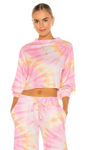 Beach Riot Ava Cropped Sweatshirt Sunrise Tie Dye Crop Sweater I ShopAA