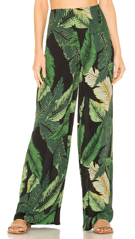 Beach Riot Celeste Pant Black Palm Leaf High Waist Wide Leg I ShopAA