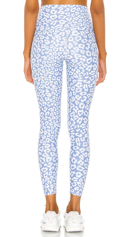 Beach Riot Blue Leopard Print Piper High Rise Active Legging I ShopAA