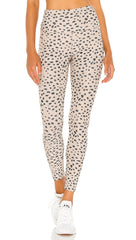 Beach Riot Ayla Ribbed Legging Taupe Spot Cheetah High Rise Skinny Fit ShopAA
