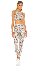Beach Riot Ayla Ribbed Legging Taupe Spot Cheetah High Rise Skinny Fit