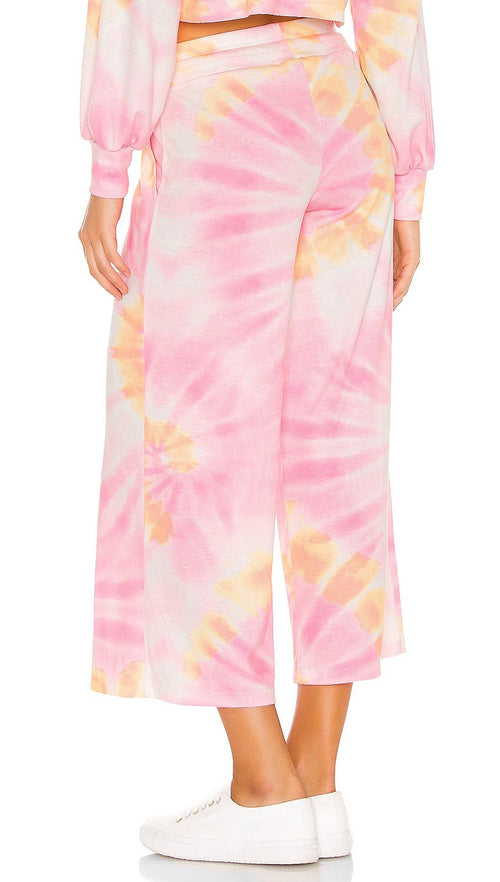 Beach Riot Hailey Crop Lounge Pants Sunrise Tie Dye | ShopAA