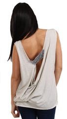 Brokedown No. 7 Sequin Back Swing Tank in Silver