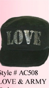 Brokedown Love Cadet Hat in Black or Olive