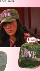 Brokedown Army Fatigue Cadet Hat w/ Love in Rhinestone