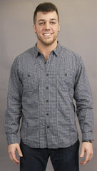 BTNS Seamed Plaid Work 2 Pocket Button Down