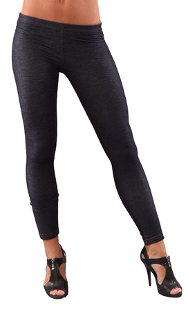 Cheryl Denim Leggings Jegging Blue Gold Contrast Stitching