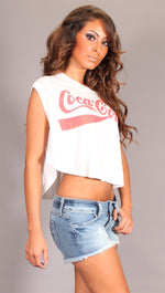 Chaser Coca Cola Muscle Tee in White
