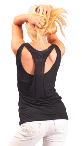 Chaser LA Dual Layered Tank in Black