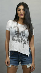 Chaser Ride or Die Fringe Back Tee