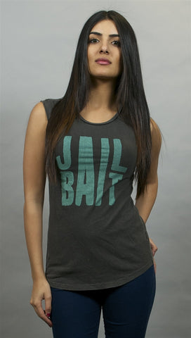 Chaser Jail Bait Muscle Tee in Black