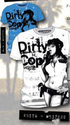 Code 64 Seven Dirty Cop Tee (Available in White and Blue)