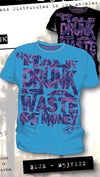 Code 64 Seven Half Drunk Tee in Blue