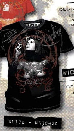 Code 64 Seven Wicked Quickie Tee in Black