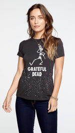 Chaser LA Grateful Dead Dancing Skeleton Crew Neck Tee Shirt Vintage Black | ShopAA